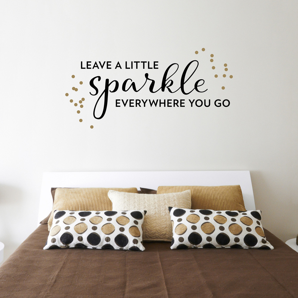 leave a little sparkle wall art decal