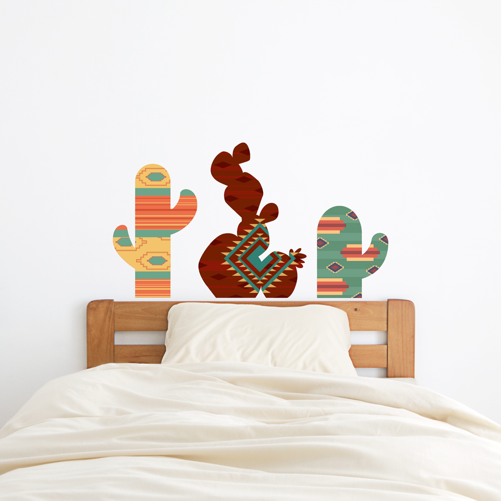 Southwest cacti printed wall decal amipublicfo Image collections