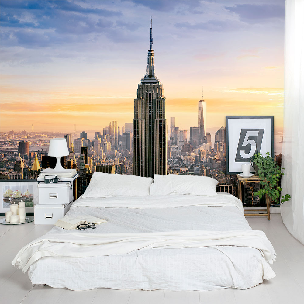 New york cityscape wall mural for City scape mural