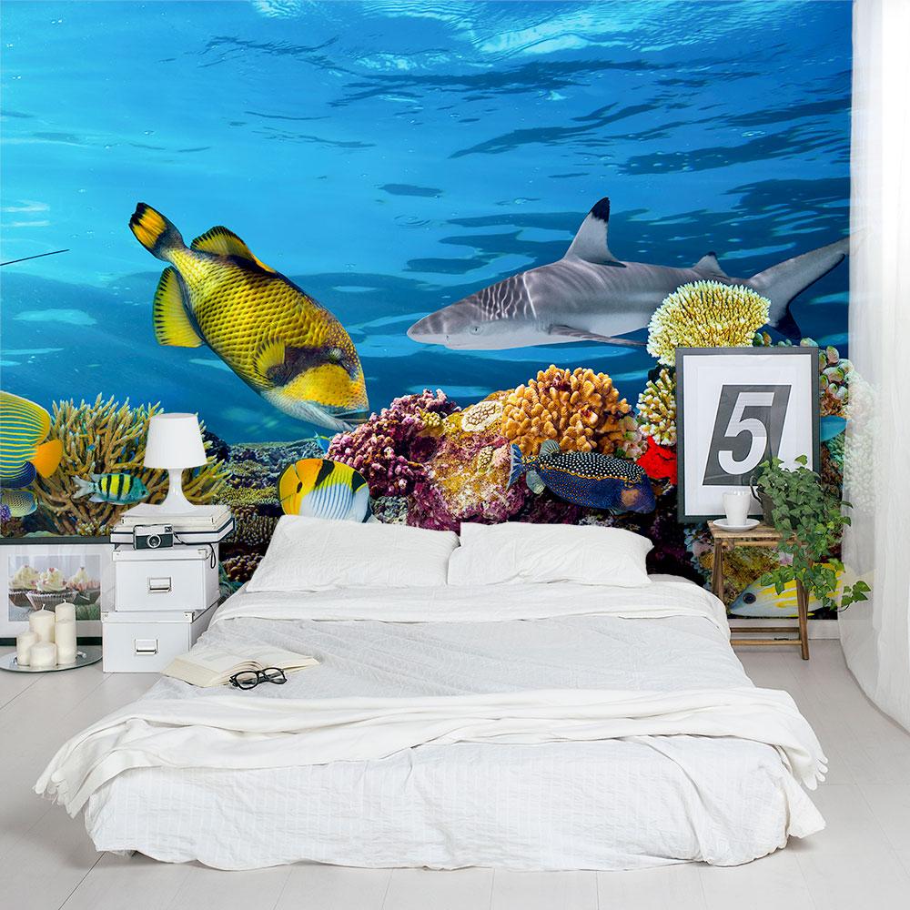 Underwater Wall Mural underwater sea life wall mural