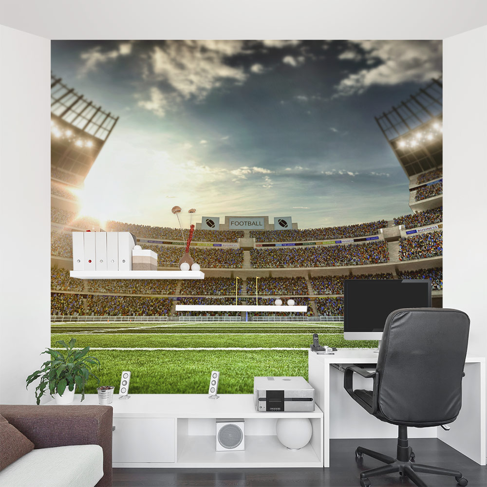 On the football stadium wall mural for Audience wall mural