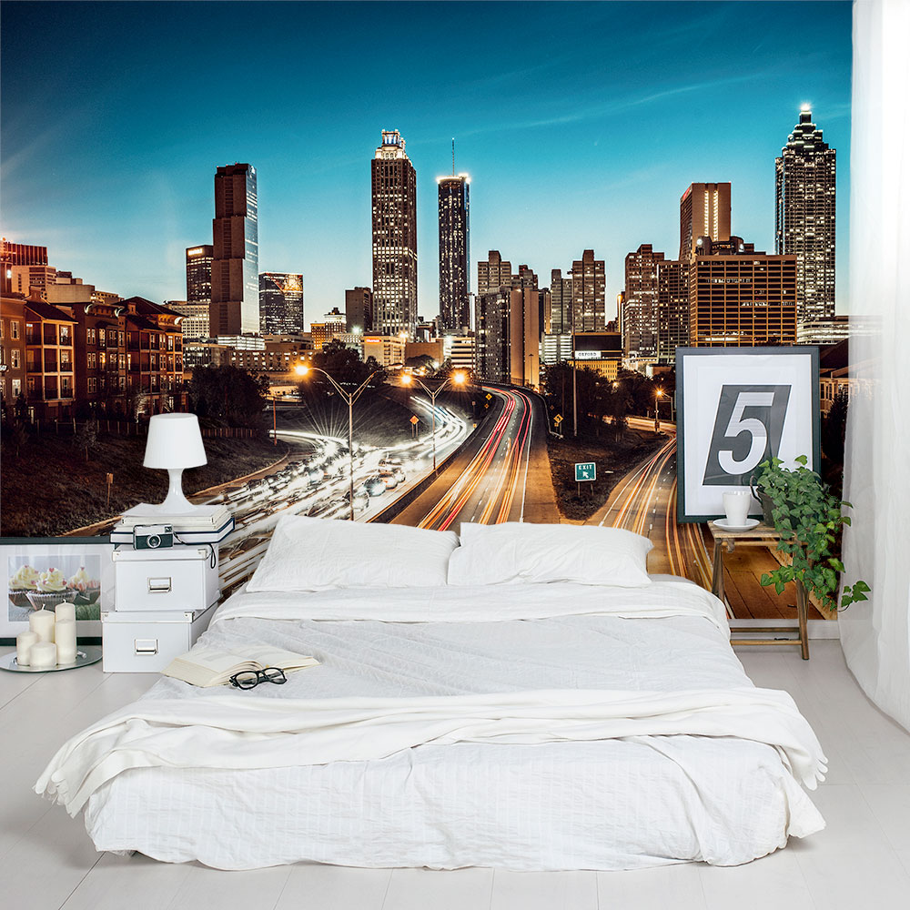 Atlanta cityscape wall mural for City scape mural