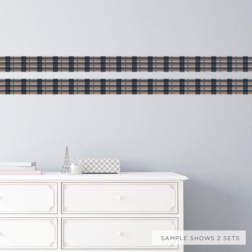Plaid Wallpaper Removable Border
