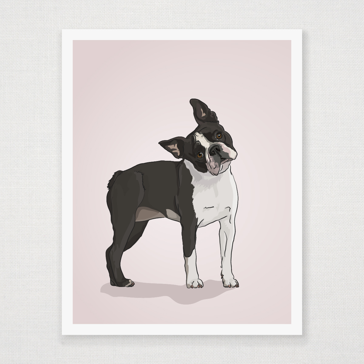 Boston Wall Art boston terrier art print