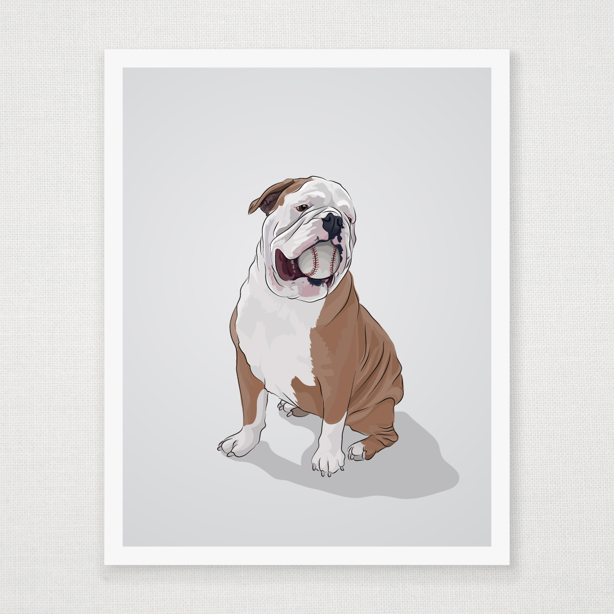 Uncategorized Bulldog Pictures To Print english bulldog art print