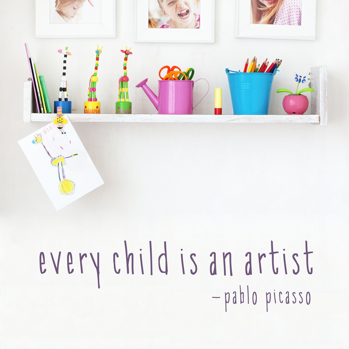 Every Child Is An Artist Wall Quote Decal