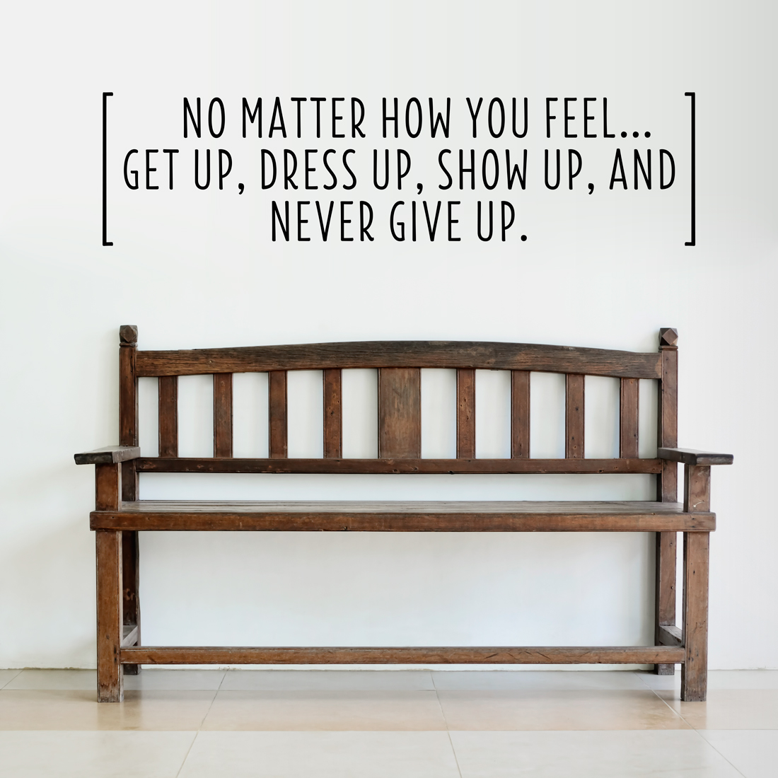 Never Give Up Wall Decal Inspirational Wall Art Decals