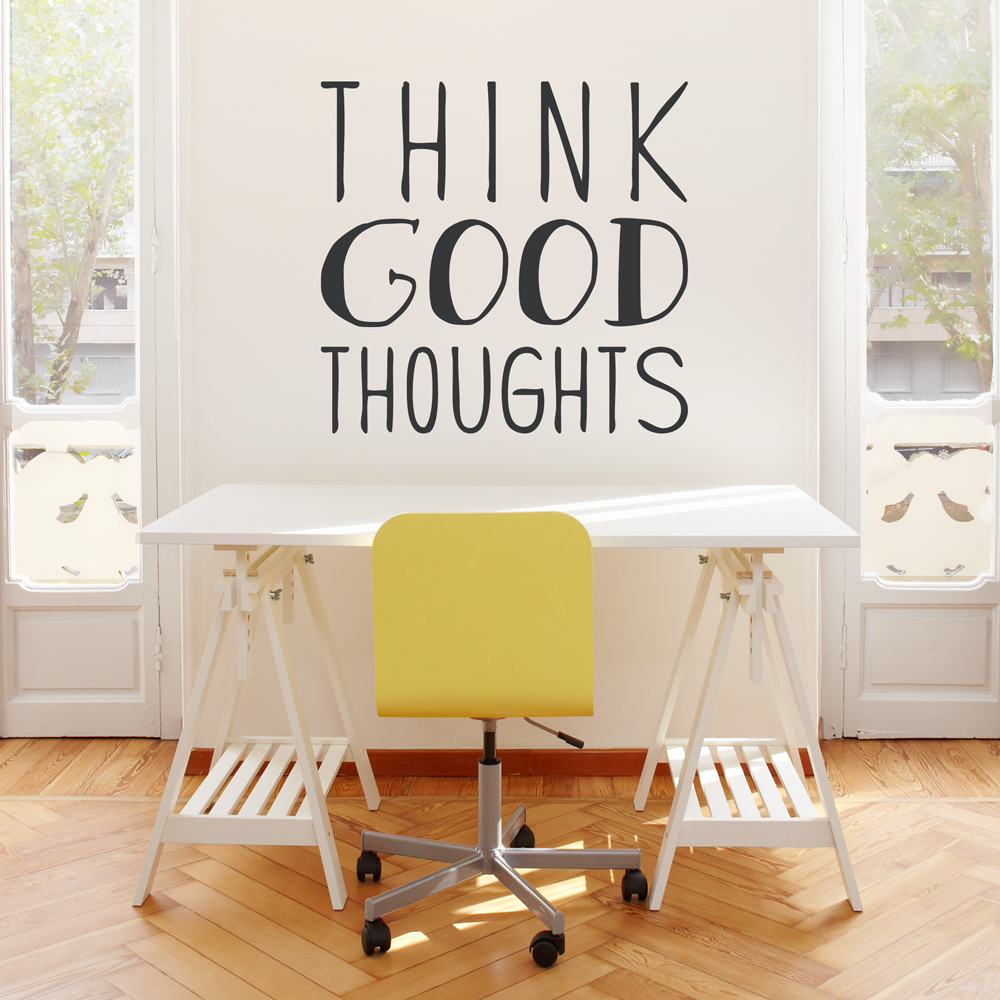 Think Good Thoughts Wall Decal