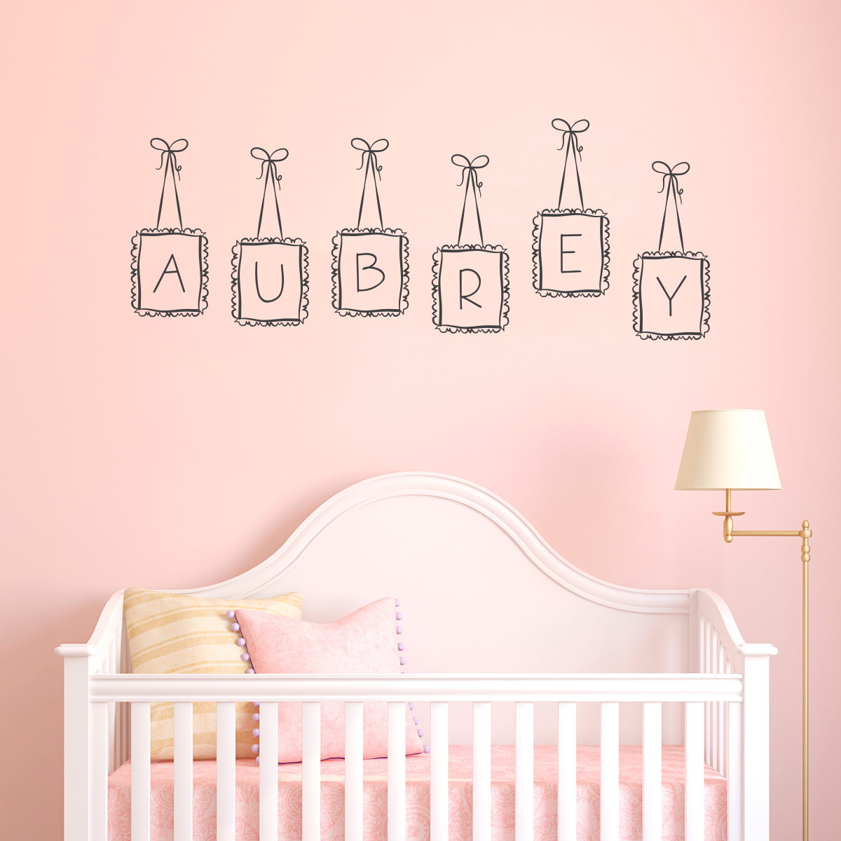 Lovely Doodle Letter Name Frames Wall Decal ... Part 10