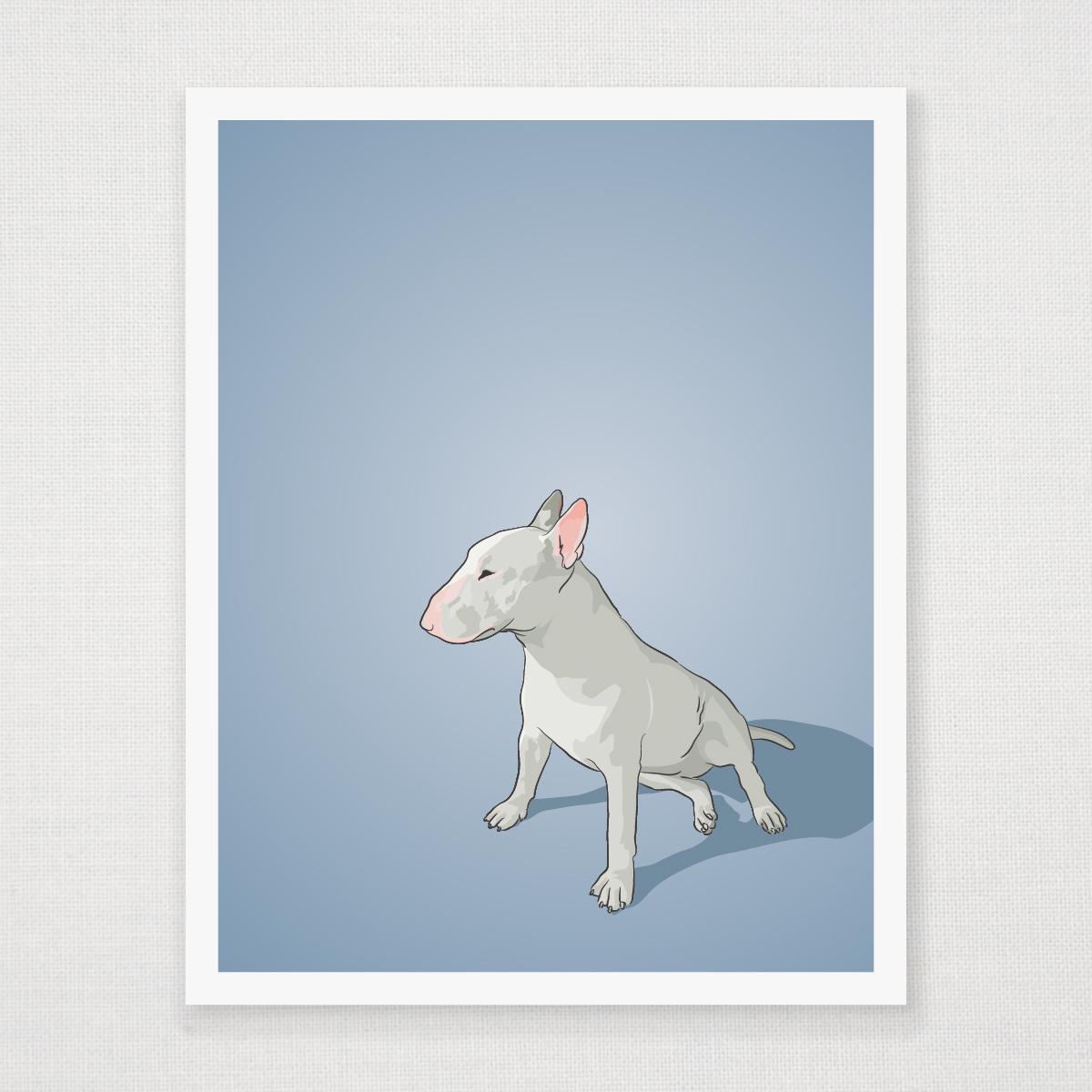 Bull Terrier Art Print - Bull terrier art