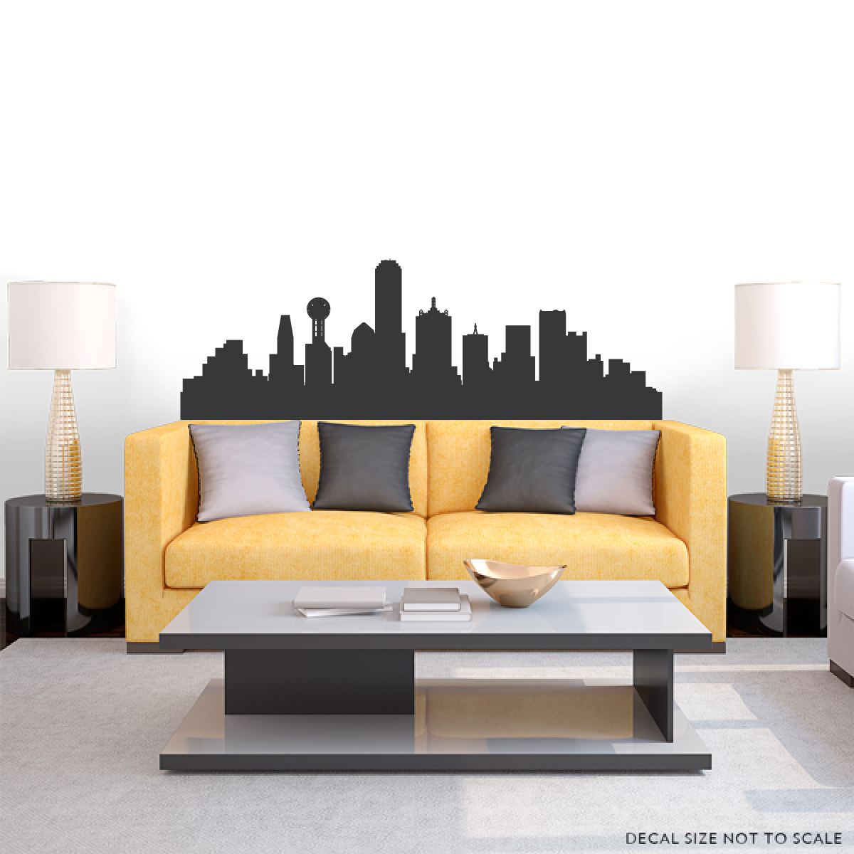 Dallas Texas Skyline Wall Decal ... Part 93