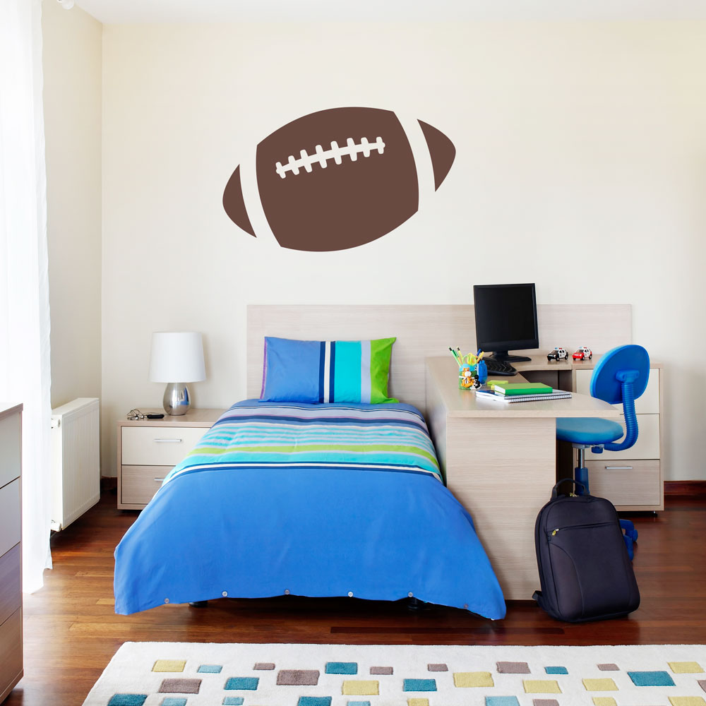 football wall decals vinyl wall decal sticker football personalised football wall sticker by the bright blue pig