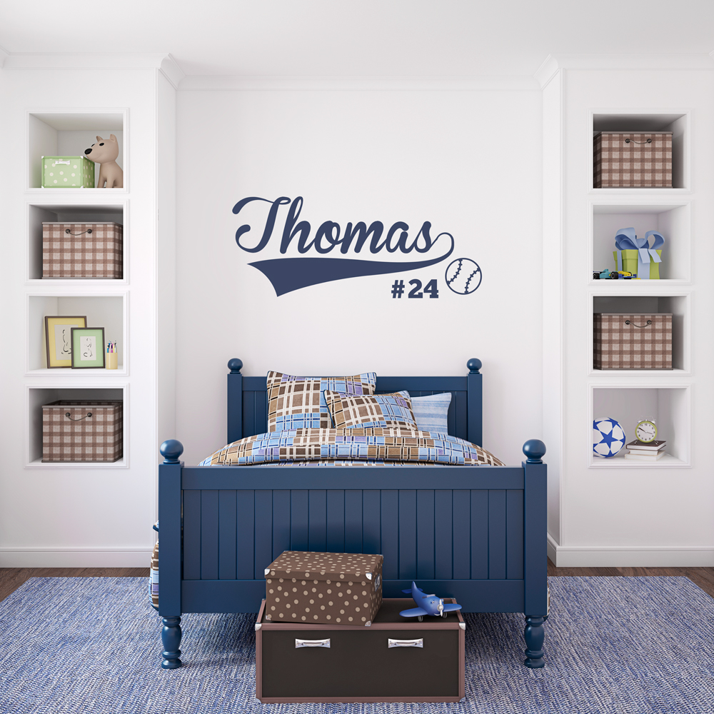 Custom Baseball Name Wall Art Decal