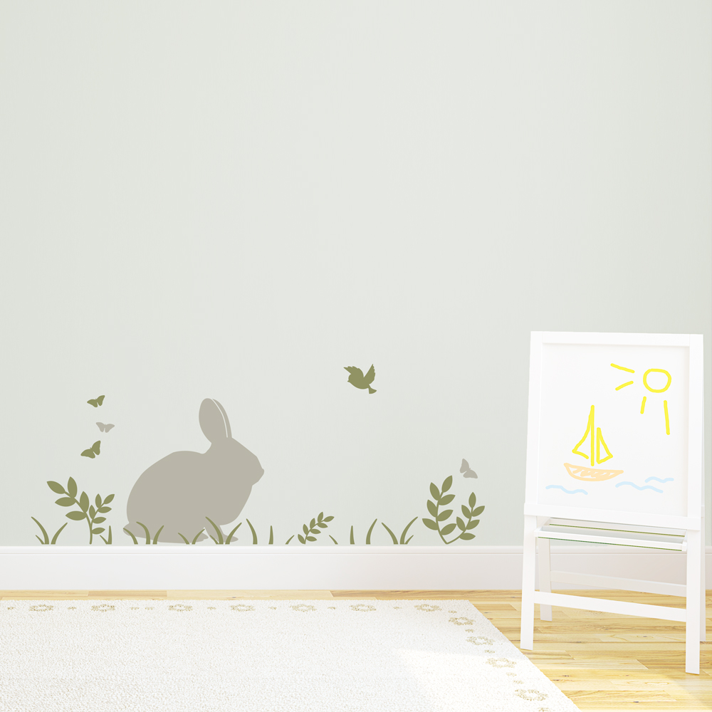 bunny wall decals images children s rabbit wall stickers by koko kids