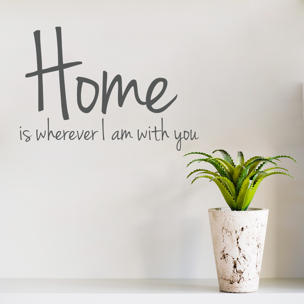 Wall Art Decal home is wherever i am with you wall art decal