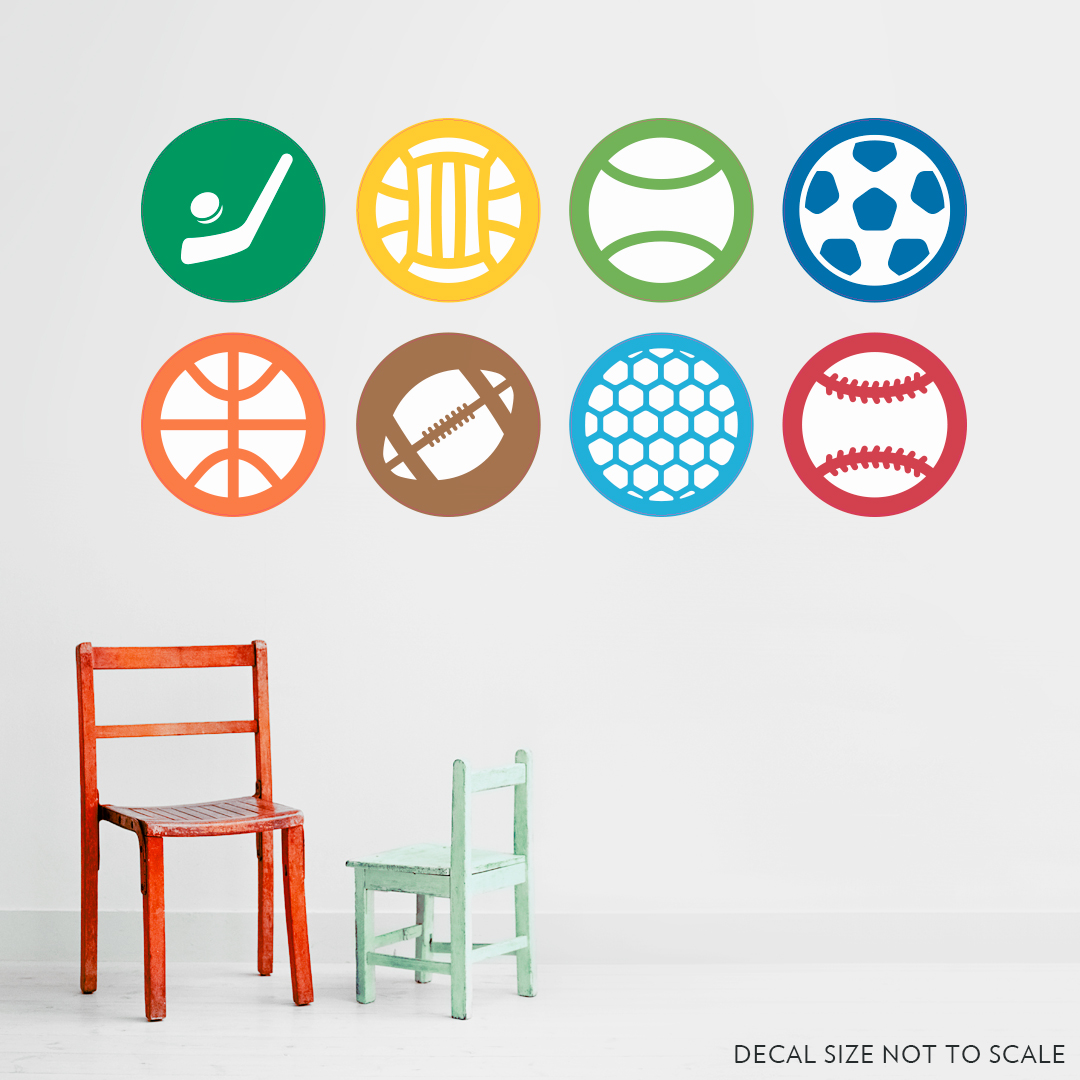 Color Sports Sticker Pack Wall Art Decal