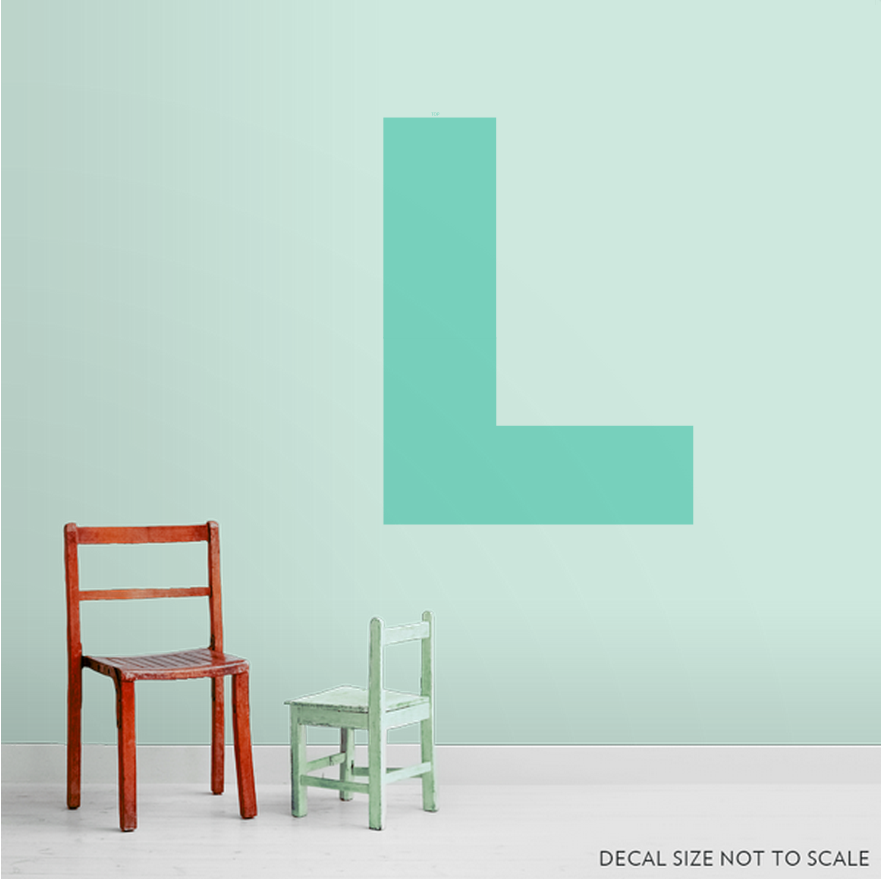 Large Letter Wall Decal Part 19