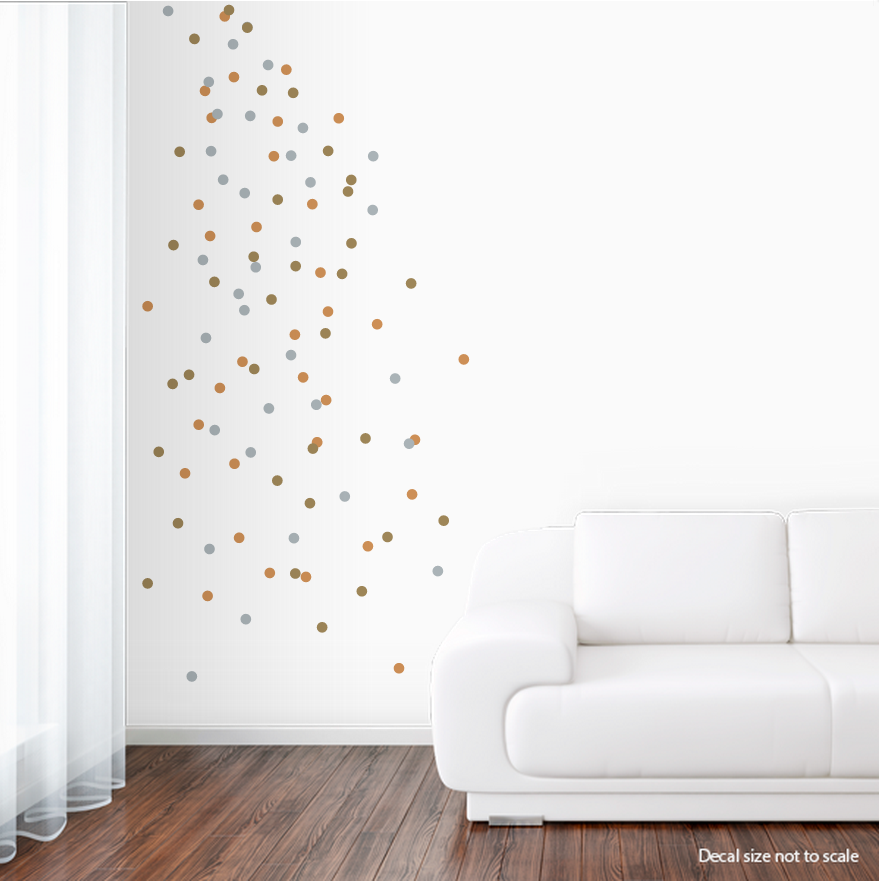 "[CLEARANCE] Copper, Silver, Gold Metallic 1"" Deluxemodern Wall Confetti ..."