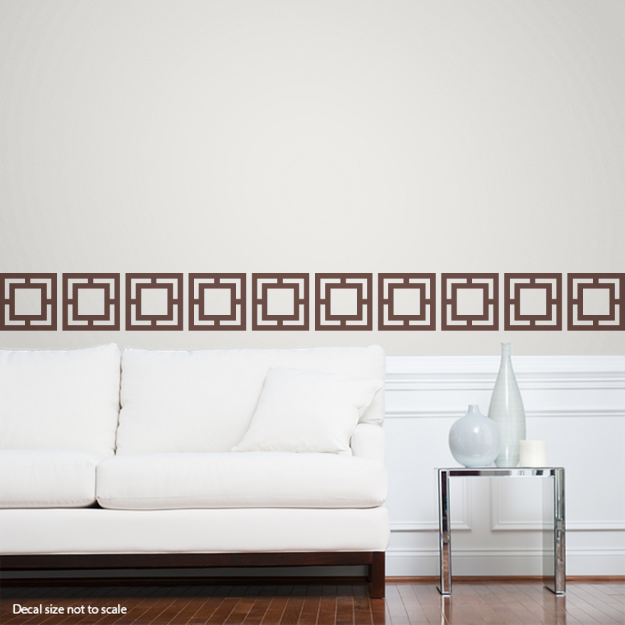 CLEARANCE Brown 10 Geo Tiles Wall Decal