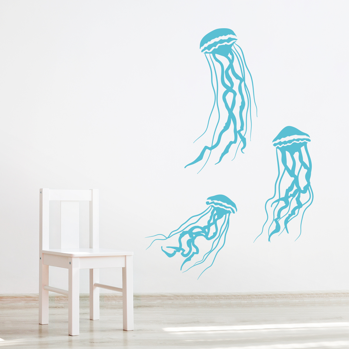 Jellyfish wall decals for Beach wall decals