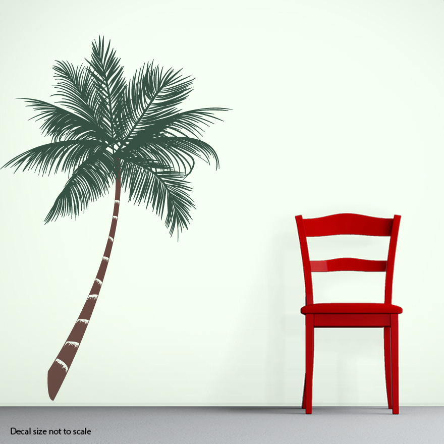 Superior CLEARANCE Tropical Palm Tree Wall Decal Good Looking