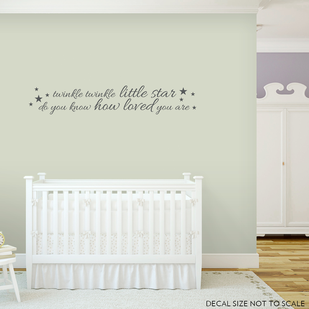 Twinkle Twinkle Little Star...Wall Quote Decal