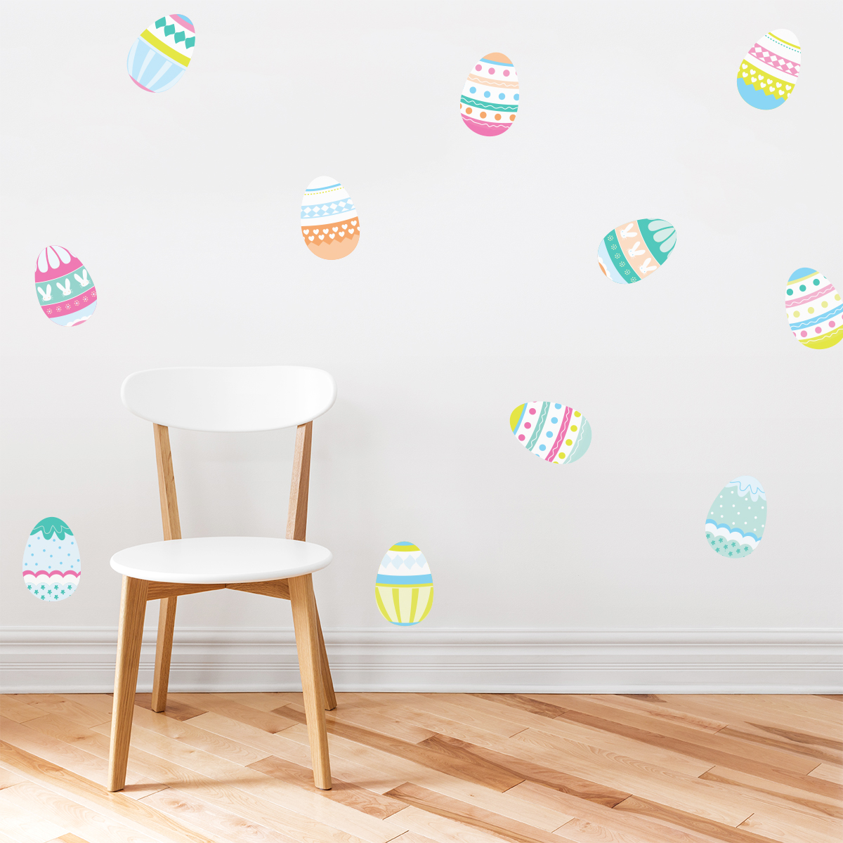 Easter eggs printed wall decals amipublicfo Image collections