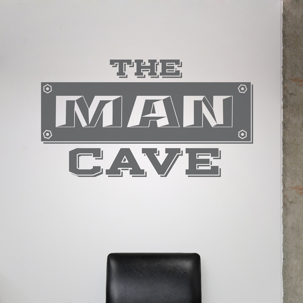 Man Cave Wall Decal - How do you put a wall sticker up