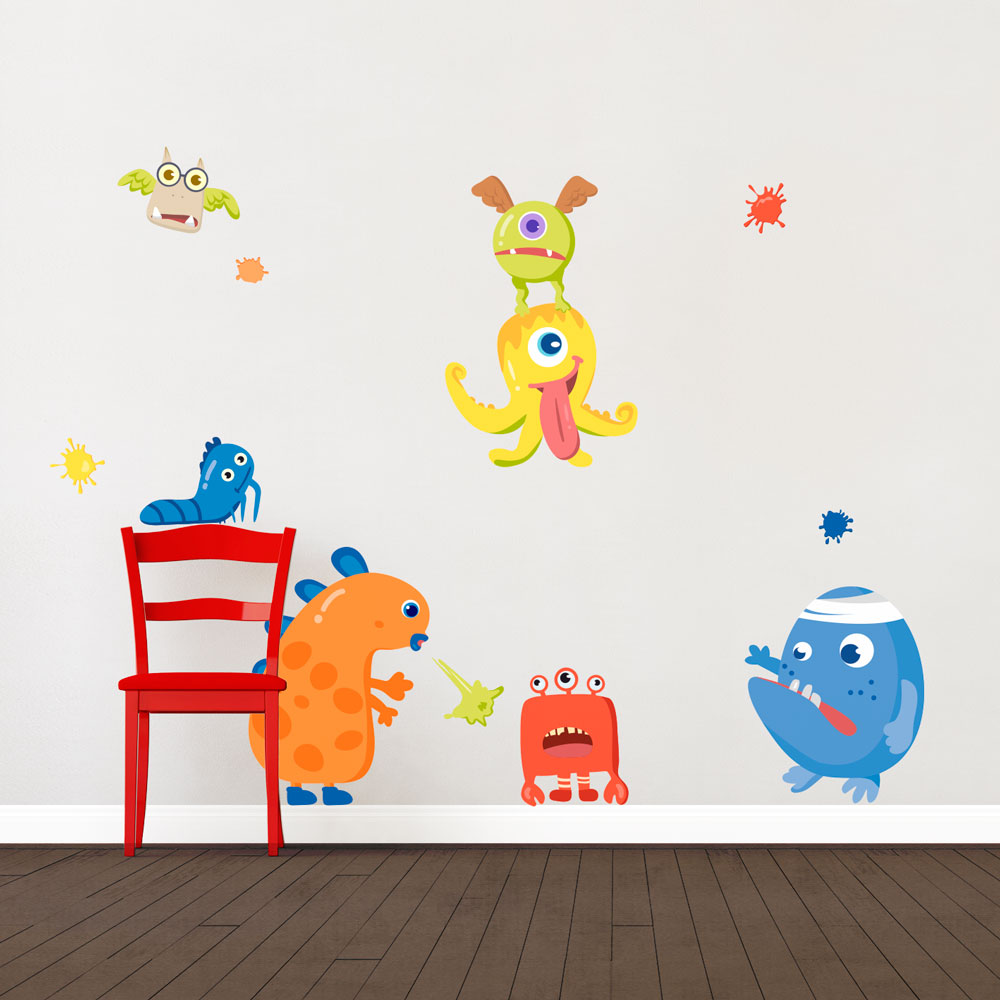 Monster fun printed wall decal monster funprinted wall decals amipublicfo Image collections