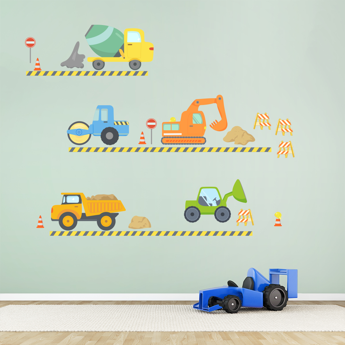 Construction fun printed wall decal construction fun printed wall decal construction wall decal amipublicfo Gallery