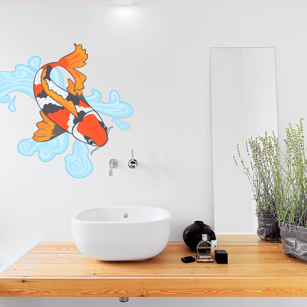 Charmant Koi Fish Wall Decal