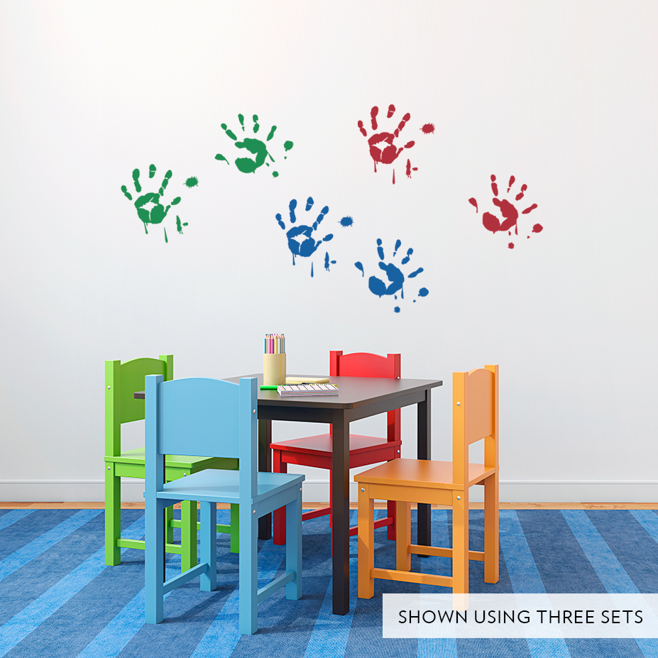 Paint hand prints wall decal amipublicfo Images