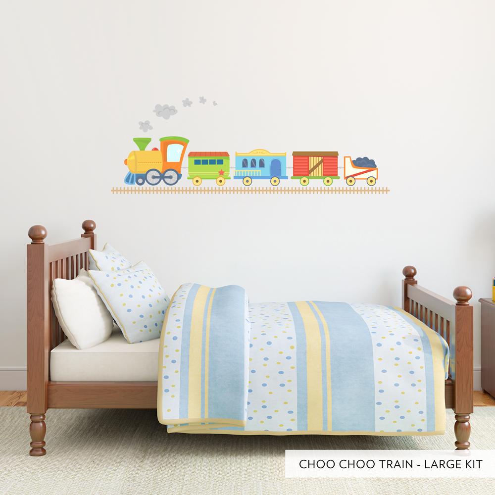 Choo Choo Train Fun Printed Wall Decals - Wall decals large