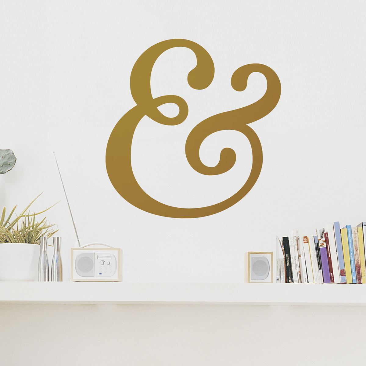 Ampersand wall decal clearance gold 22 ampersand wall decal amipublicfo Image collections