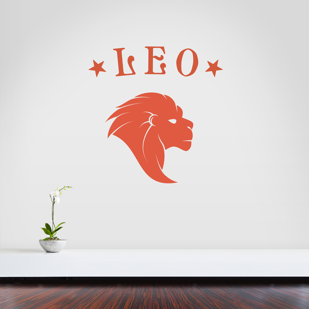 Leo Zodiac Sign Wall Decal - How do i put up a wall sticker