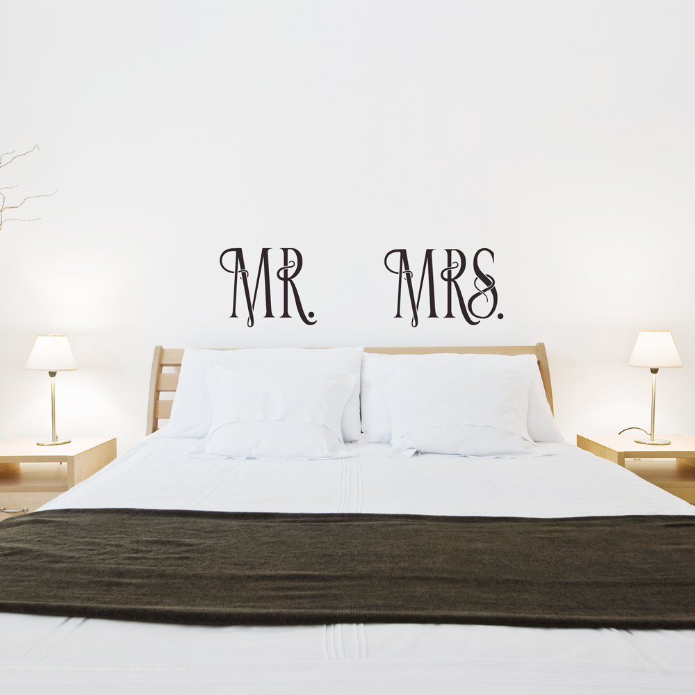 Beau MR And MRS Wall Quote Decal ...