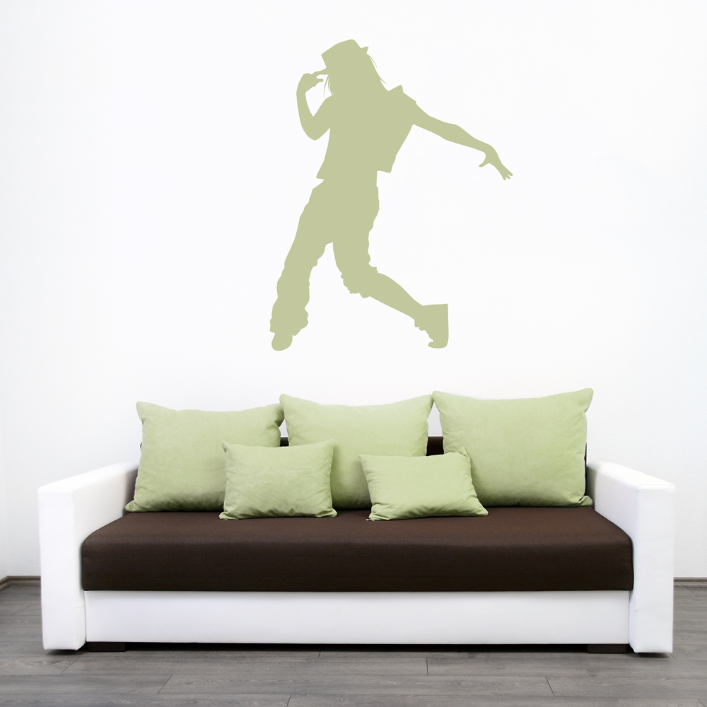 Bon Female Hip Hop Dancer Wall Decal