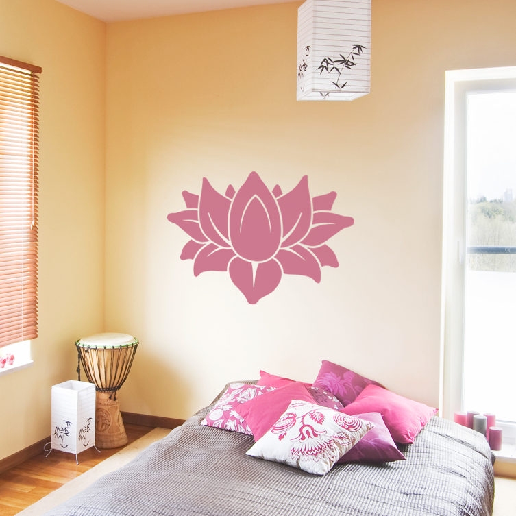 Lotus Flower Wall Art lotus wall art decal