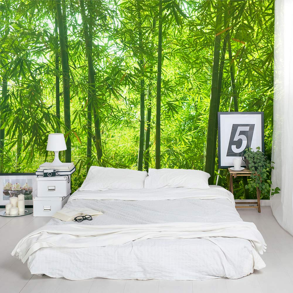 Bamboo wall mural forest wallpaper mural wallums for Bedroom wall mural designs