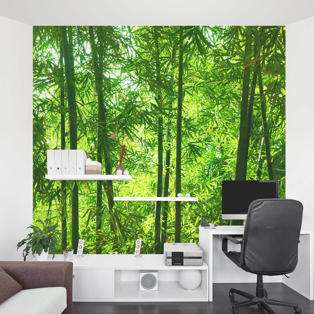 Bamboo wall mural forest wallpaper mural wallums for Design wall mural
