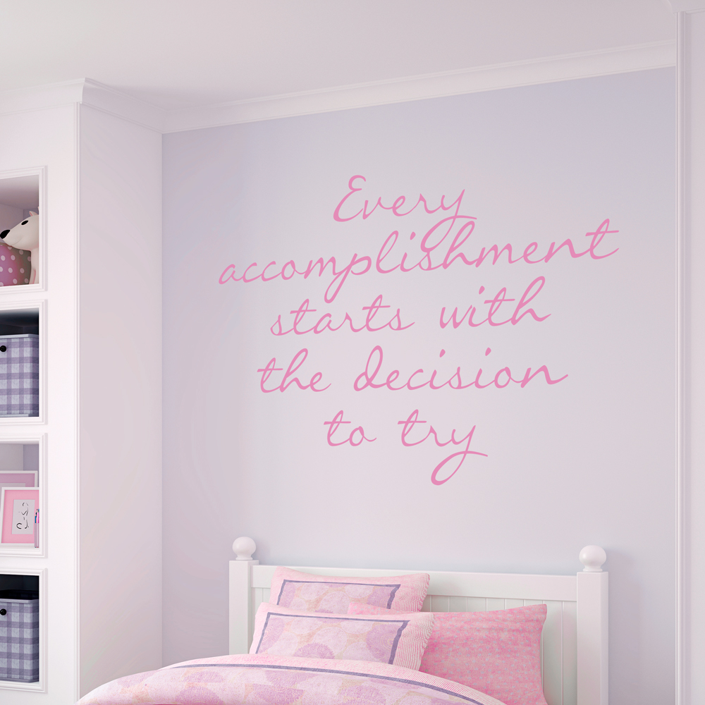 Every Accomplishment Wall Quote Decal Wallums Wall Decals - Wallums wall decals