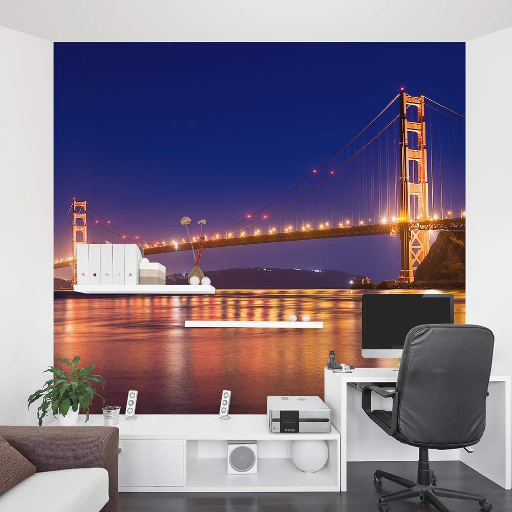 Golden Gate Bridge Wall Mural San Francisco Wall Mural ... Gallery