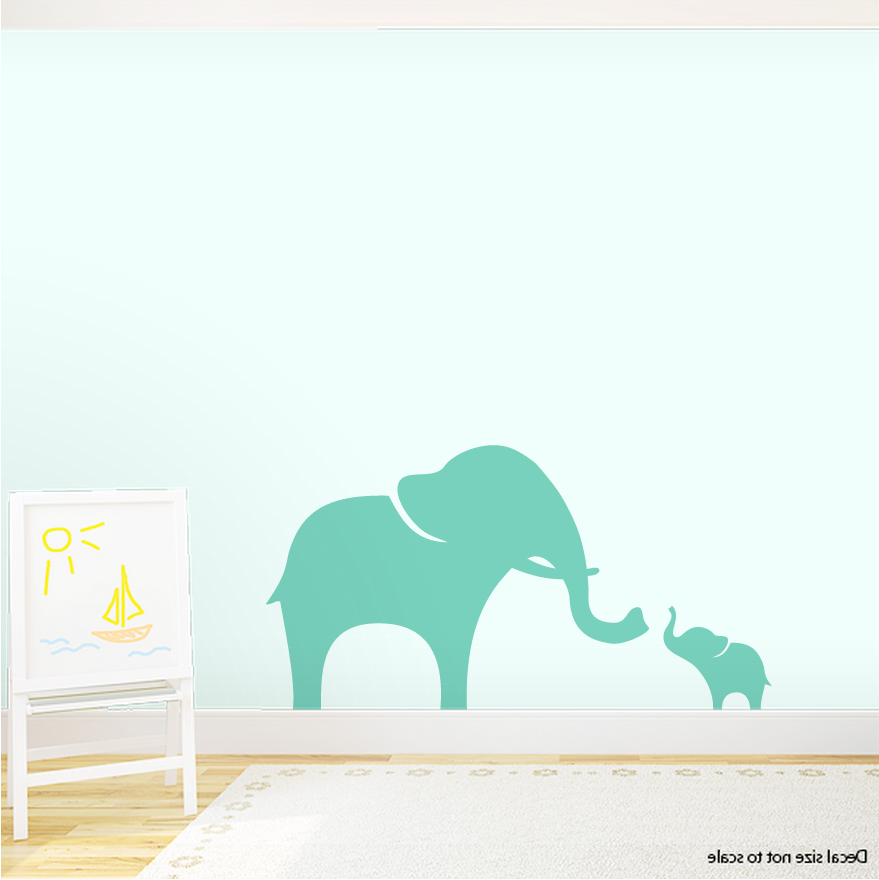 CLEARANCE Elephants Wall Decal Part 91