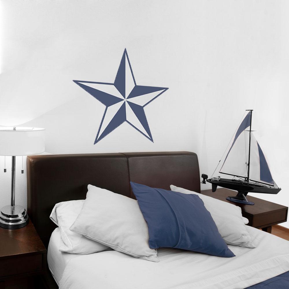 nautical star wall decal