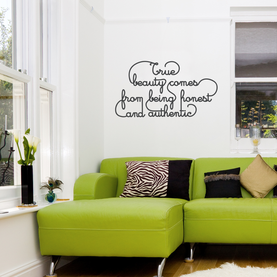 Genial True Beauty Wall Quote Decal ...