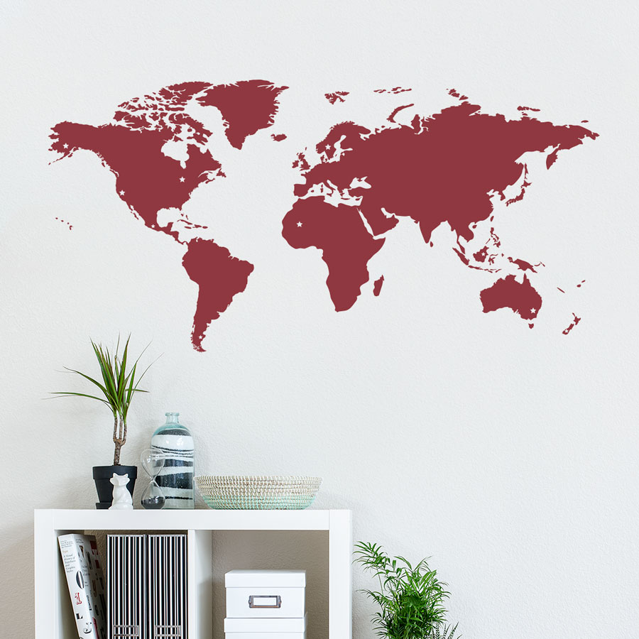 ... this decal will help you plot the course. For decorative or educational  purposes, this map is a perfect for your walls! This decal comes ...