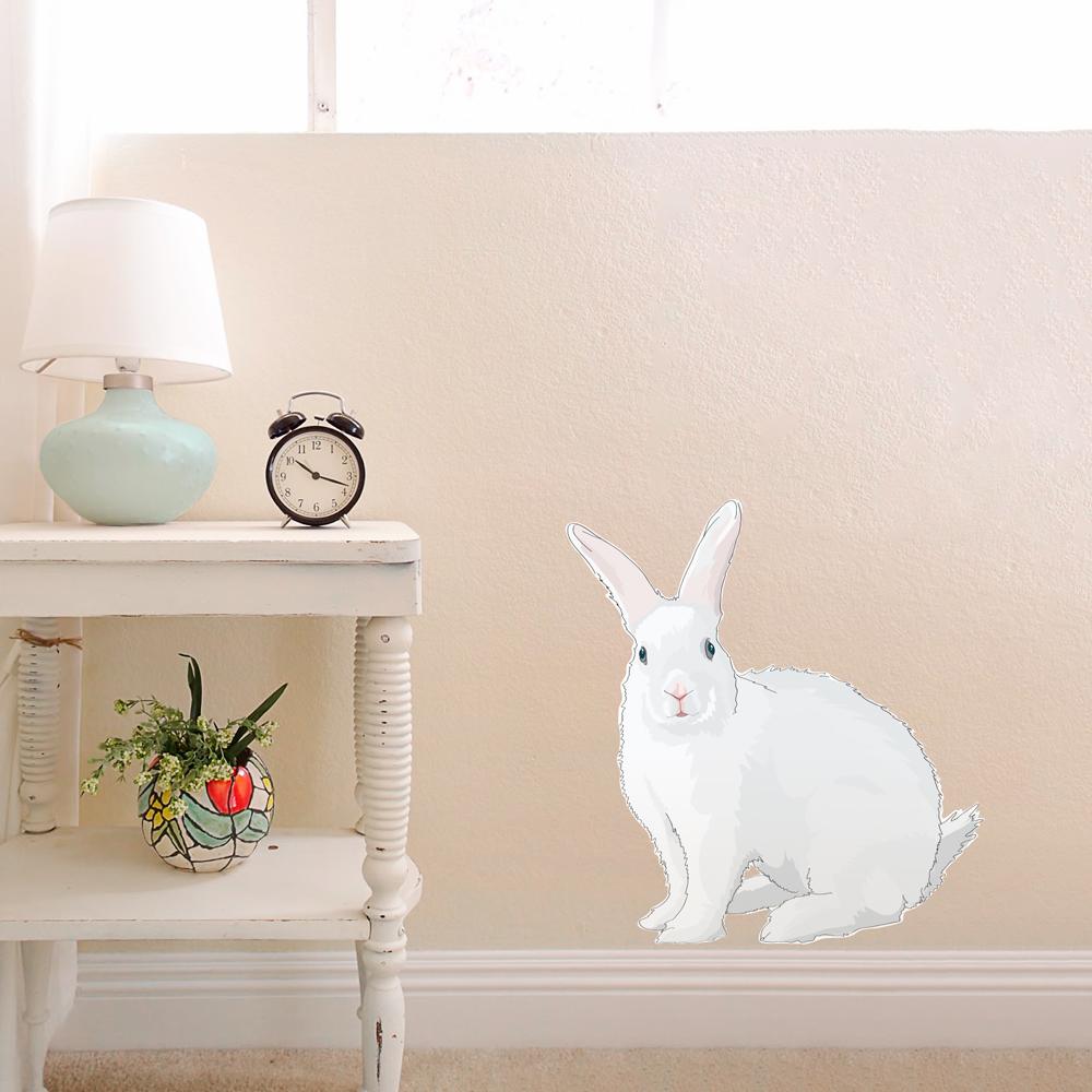 cadbury bunny printed wall decal bunny wall stickers children rabbit wall stickers koko