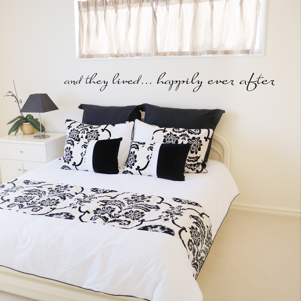And they livedhappily ever after wall quote decal happily ever after wall quote decal amipublicfo Image collections