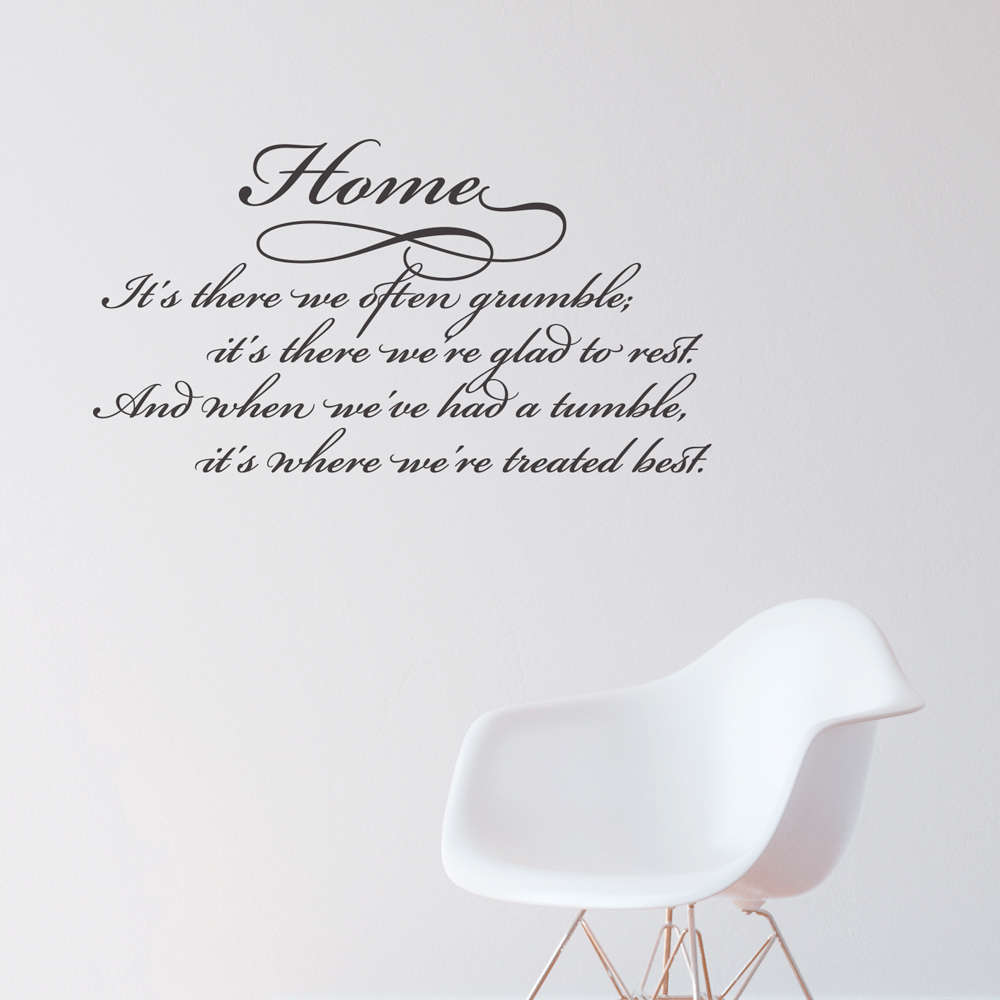 Quotes On Home Home Treated Best Wall Quote Decal  Wallums Wall Decals