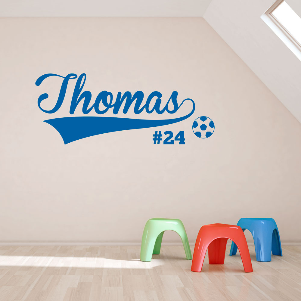 Soccer Name And Number Wall Art Decal ...